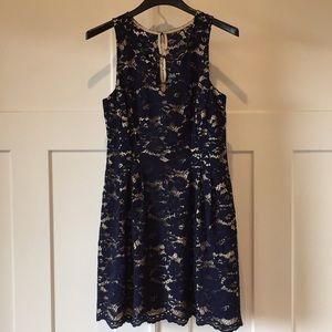 Vince Camuto Navy lace dress